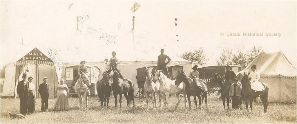Circus image from the early 1900's
