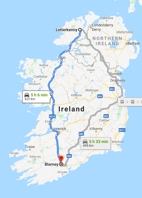 It's a long way from Tipperary but even further from Donegal