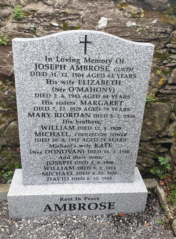 Ambrose Family Grave, picture D. O'Brien