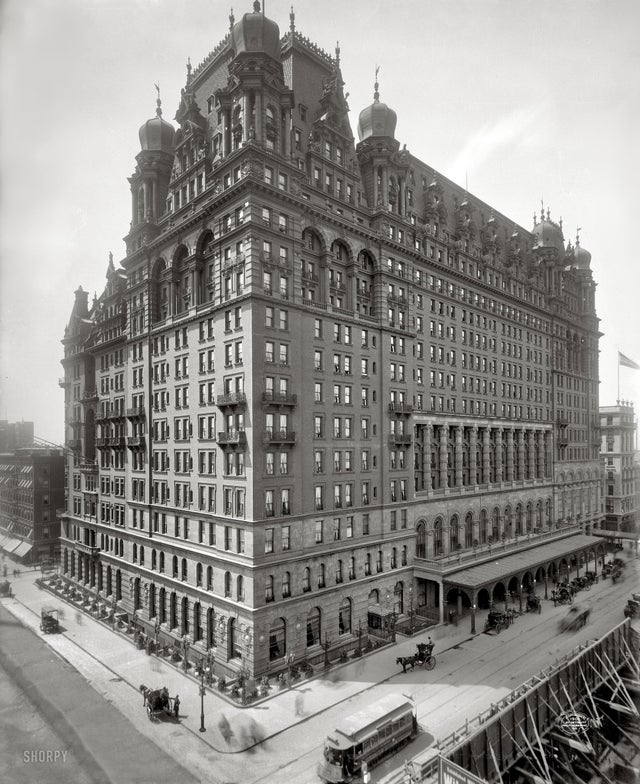 Waldorf Astoria - The original Waldorf-Astoria, built in 1893, demolished in 1929 to give way to the Empire State Building.