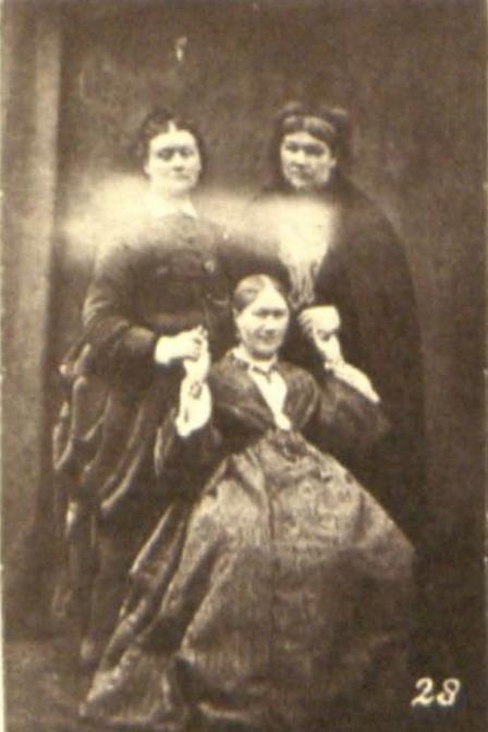 Mrs Tebb (left), Georgiana Houghton (middle), Agnes Guppy-Volckman (right) https://en.wikipedia.org/wiki/Agnes_Guppy-Volckman