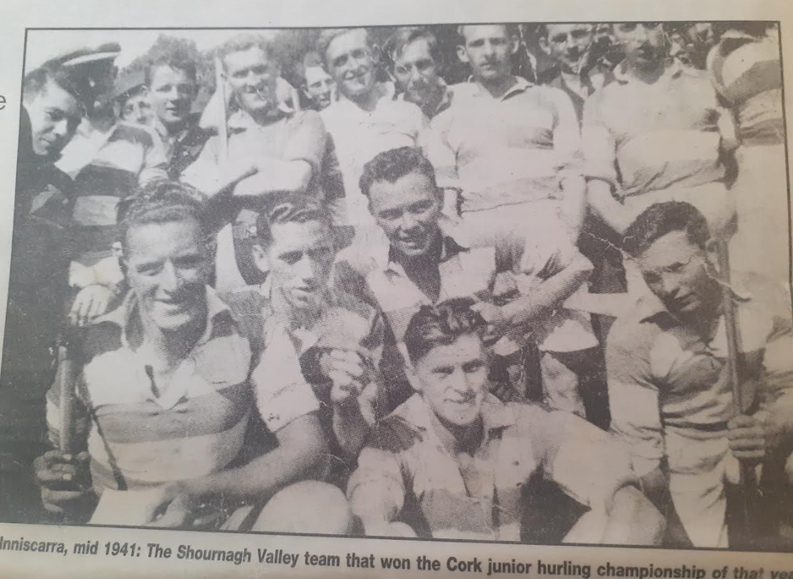 Photo from the Cork Examiner 1999 - Shournagh Valley team 1941